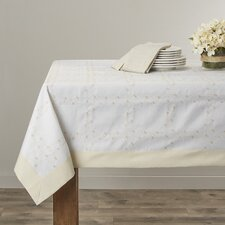 Ribbon Rose Embroidered Tablecloth