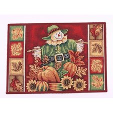 Fall Harvest Red Area Rug