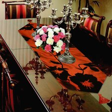 Silky Floral Table Runner