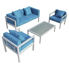 Miramar 4 Piece Seating Group with Cushions