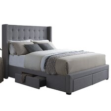Savoy Storage Wingback Panel Bed