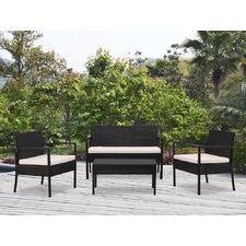 San Juan 4 Piece Lounge Seating Group with Cushions