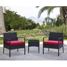 San Juan 3 Piece Lounge Seating Group with Cushion