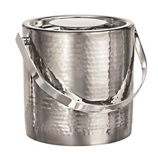 Vintage Ice Bucket with Tongs