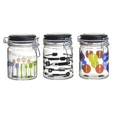 Kitchenware Hermetic Preserving Jar (Set of 3)