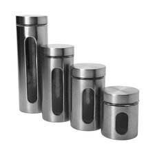 4 Piece Palladian Window Canister Set