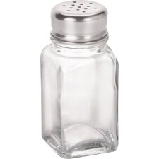 """4"""" Glass Salt and Pepper Shakers (Set of 12)"""