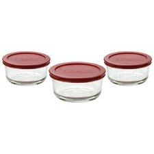 6-Piece Round Kitchen Storage Container Set (Set of 4)