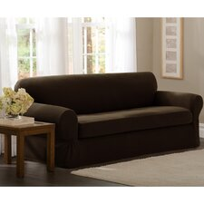 Pixel Stretch 2 Piece Sofa Box Cushion Slipcover