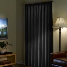 Faux Suede Rod Pocket Single Curtain Panel