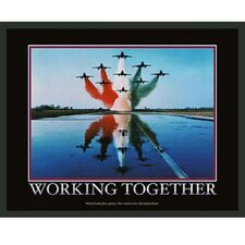 Motivational Working Together Framed Photographic Print