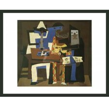 'Three Musicians' by Pablo Picasso Framed Graphic Art