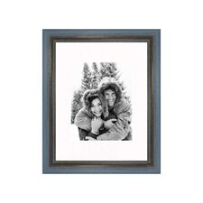 "11"" x 14"" Rustic Wire Brush Frame in Grey/Blue"