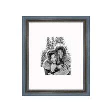 "16"" x 20"" Rustic Wire Brush Frame in Grey/Blue"
