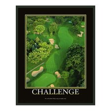 Motivational Challenge Framed Photographic Print