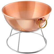 M'passion Medium Copper Mixing Bowl with Bronze Ring Handle