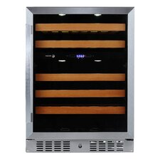 46 Bottle Dual Zone Built In/Freestanding Wine Refrigerator