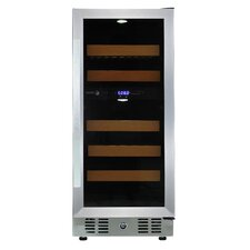 28 Bottle Dual Zone Built In/Freestanding Wine Refrigerator
