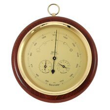 Barometer with thermometer and hygrometer