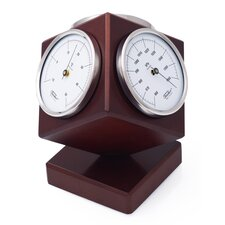 Kubus Weather Station With Thermometer, Barometer and Hygrometer