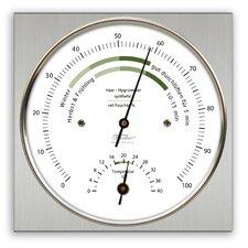 "11cm x 11cm Wohnklima-Hygrometer ""Life"" mit Thermometer"