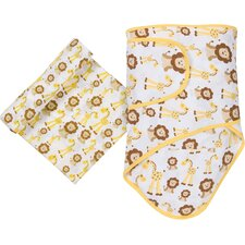 Giraffes and Lions 2 Piece Blanket Set