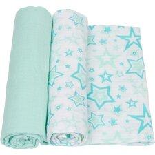 Stars 2 Piece Swaddle Blanket Set
