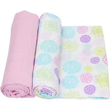 Colorful Bursts 2 Piece Swaddle Blanket Set