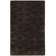 Animal Hide Brown/Black Fur Area Rug