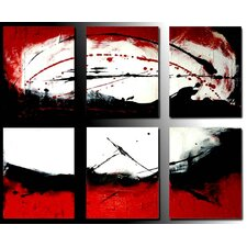 Sunlight 6 Piece Framed Original Painting on Wrapped Canvas Set