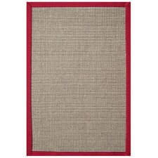 Sisal Natural/Red Rug