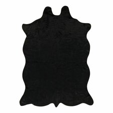 Animal Hide Black Area Rug