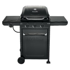 Charcoal Gas Hybrid Grill with Side Burner