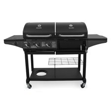 Charcoal and Gas Combo Grill with Side Burner