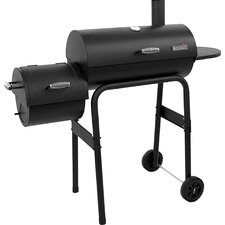 300 Series American Gourmet Offset Charcoal Smoker & Grill