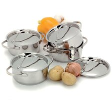 Resto 4-pc Stainless Steel Mini Dutch Oven Set