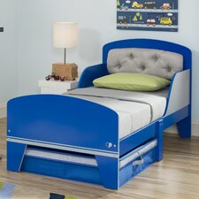 Jack and Jill Toddler Panel Bed with Under the Bed Storage