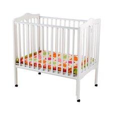 Portable Mini Convertible Crib with Mattress