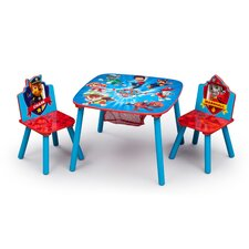 Nick Jr. Kids 3 Piece PAW Patrol Table and Chair Set