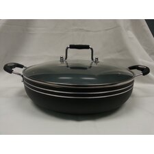 """Imperial Healthy Choice 12"""" Non-Stick Frying Pan with Lid"""