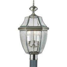 Outdoor 3 Light Brass Post Light