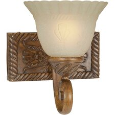 One Light Wall Sconce in Rustic Sienna