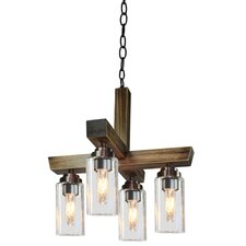 Home Glow 4 Light Kitchen Island Pendant
