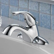 Classic Centerset Bathroom Faucet with Diamond Seal Technology with Metal Pop-Up Drain
