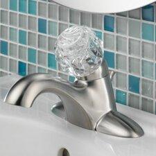 Classic Centerset Bathroom Sink Faucet with Single Push Tilt Handle and Diamond Seal Technology