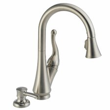 Talbott Single Handle Deck Mounted Kitchen Faucet with Soap Dispenser