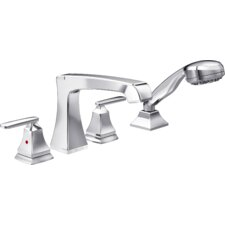 Ashlyn Roman Two Handle Deck Mount Tub Filler Trim with Hand Shower