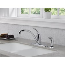 Collins Single Handle Centerset Arched Kitchen Faucet with Spray