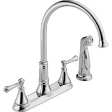 Cassidy Double Handle Deck Mounted Kitchen Faucet with Spray