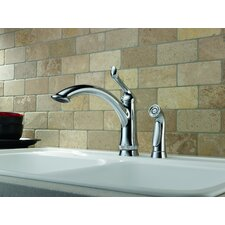 Linden Single Handle Deck Mounted Kitchen Faucet with Spray